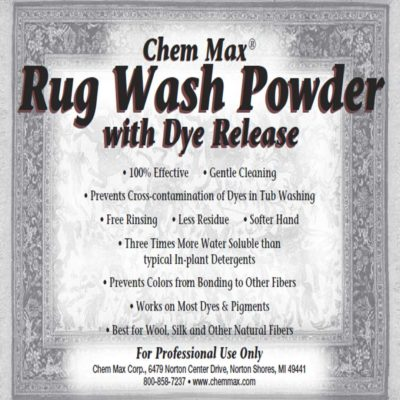 Rug Wash Powder with Dye Release